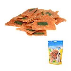 Snack bolsa carne pollo y menta 100 gs